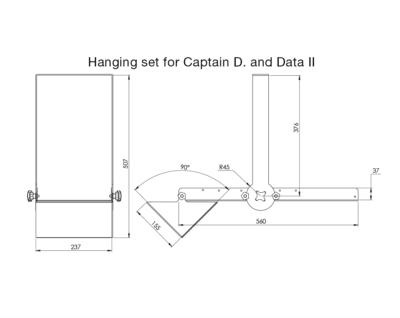 hanging set captain d Data II dimensions